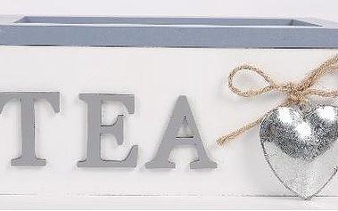 Dekorativní krabička na 2 čaje se srdíčkem
