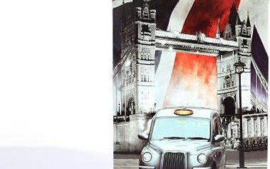 Dekorativní plechová cedule Taxi