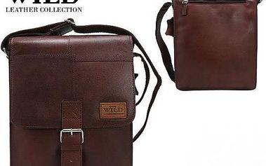 Pánská kožená taška Listonoš NZ-721-SH brown