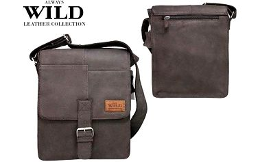 Pánská kožená taška Listonoš NZ-721-SH wild brown
