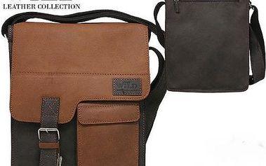 Pánská kožená taška přes rameno NZ-724-SH wild brown/tan