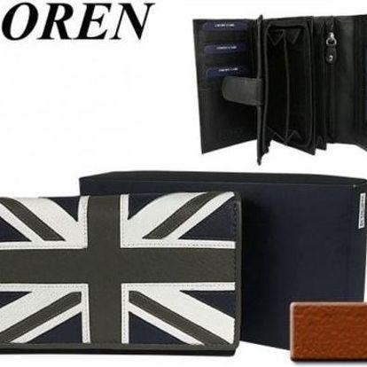 Dámská peněženka z pravé kůže LOREN Flag Blue