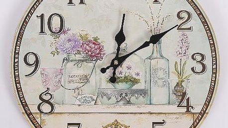 Designové nástěnné hodiny Flower