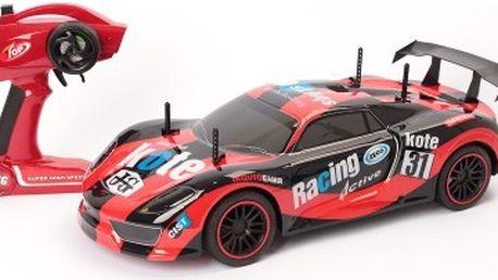 Velký RC model závodního auta červeno-černé
