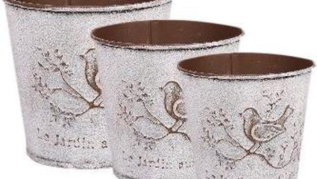Sada tří květináčů Bird