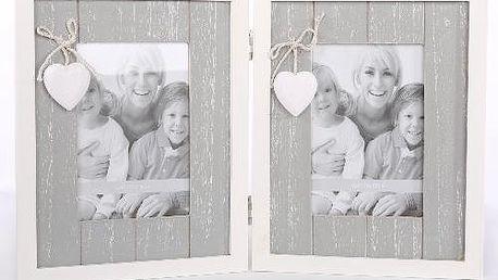 Dekorativní rámeček na 2 fotky
