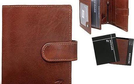 Pánská peněženka z pravé kůže N4L-VIT hnědá