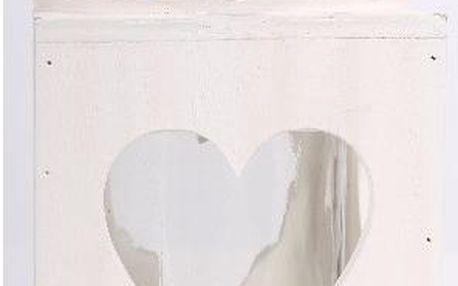 Dekorativní dřevěný svícen se srdcem