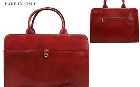 Dámská kabelka TWR-25 z pravé italské kůže červená