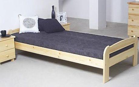 Vyvýšená postel ANIA 90x200cm z masivu borovice