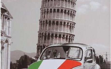 Plechová cedule na zeď Pisa