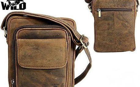 Pánská kožená taška LB-140-H z bůvolí kůže