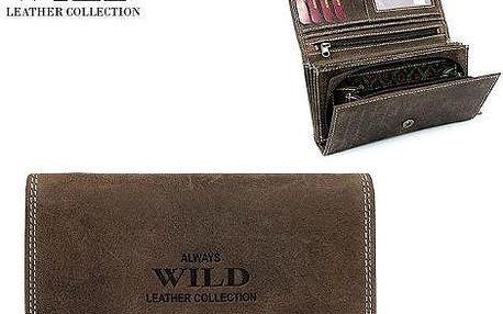 Dámská peněženka z pravé kůže ALWAYS WILD Brown