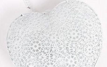 Dekorativní drátěné závěsné srdce