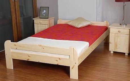 Vyvýšená postel ANIA 180x200cm z masivu borovice