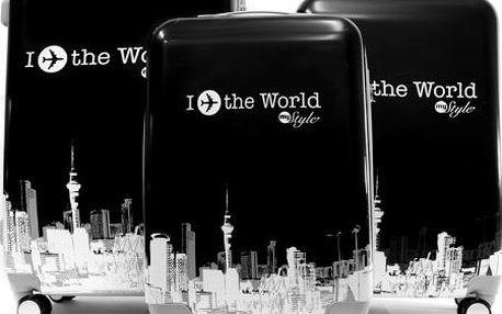 Sada cestovních kufrů s motivem World Black