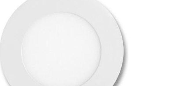 Bílý kruhový vestavný LED panel 6W 12cm