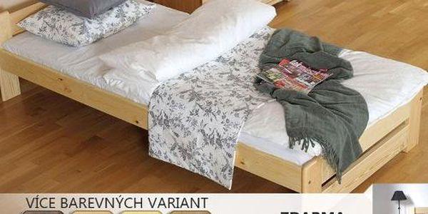 Postelový komplet Niva 120 matrace, rošt + noční stolek jako dárek