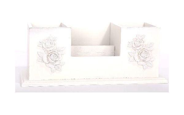 Dekorativní krabička na příbory a ubrousky ze světlého dřeva