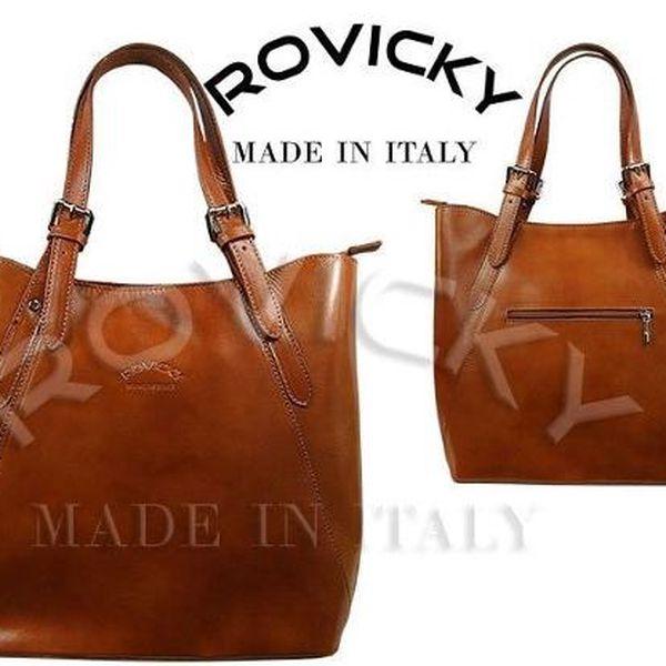 Dámská kabelka z kvalitní italské kůže CAMEL