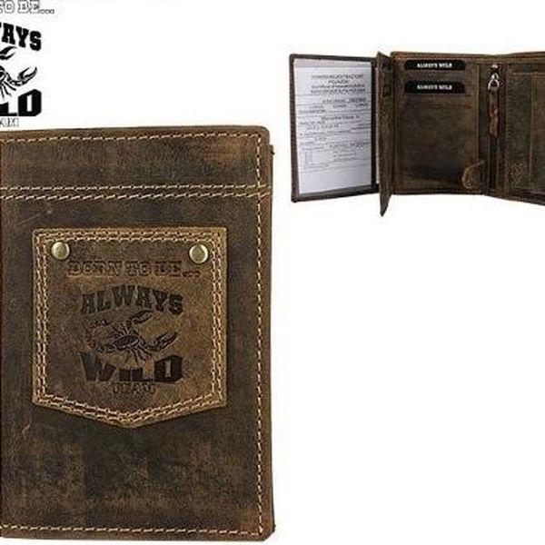 Pánská peněženka z pravé kůže N4-H-BTB-NAP hnědá