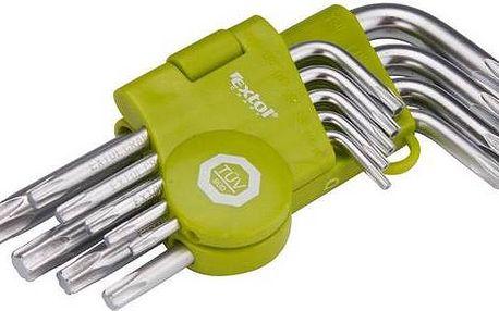 EXTOL CRAFT 66010, L-klíče, krátké, 9 ks ocel