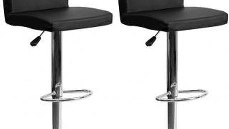 2x Barová židle Hawaj CL-7004 | černá