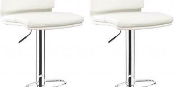 2x Barová židle Hawaj CL-7006-2 (bílá)