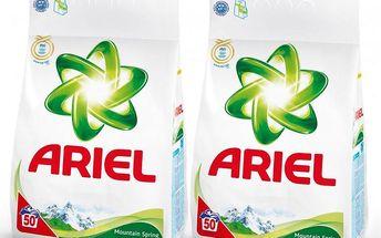 Ariel Mountain Spring prací prášek 2x50 dávek, 2x3,5 kg