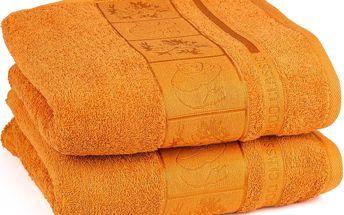 4Home ručník Bamboo Exclusive oranžová, sada 2 ks, 50 x 100 cm
