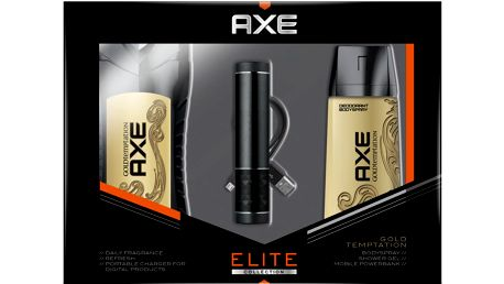 Axe Gold Temptation USB + deo + sprchový gel