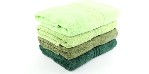 Sada 4 ručníků Rainbow Green, 50x90 cm
