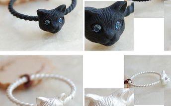 Prstýnek s kočičkou - různé barvy