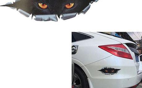 3D samolepka na auto - Kočičí oči