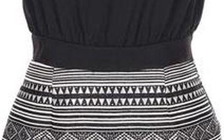 Černé šaty s metalickým vzorem AX Paris