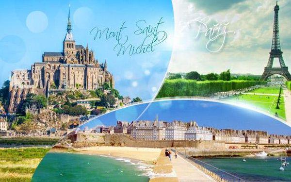 Paříž a osmý div světa Mont Saint Michel! 5denní zájezd pro 1 os. s 2x ubytováním a snídaní, květen a červen