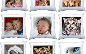 Fotopovlak na polštář - až 5 kousků