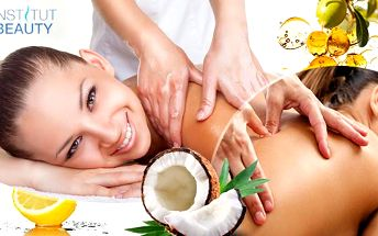 Masáž v Brně! ABS masáž na 45 či 60 min., nebo 60min. masáž klasická, peelingová kokosová či relaxační citrusová!
