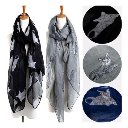 Dámský šátek s motivy koček