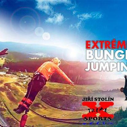 Extrémní Bungee Jumping z výšky až 60 m v Praze, ČB, Ostravě, Harrachově, Plzni, Brně, Olomouci či Liberci!