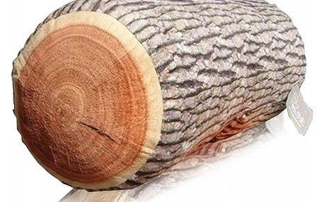 Pohodlný polštář v podobě dřevěného polena - elastická výplň - dodání do 2 dnů