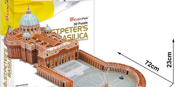 Puzzle 3D Bazilika sv.Petra - 144 dílků