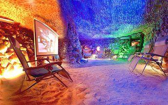 60 minut privátní romantiky v solné jeskyni pro dva v Praze