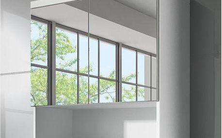 Skříňka se zrcadlem Horace - bílá