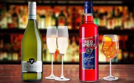 Balíček italských lahvinek: Spritz a Prosecco