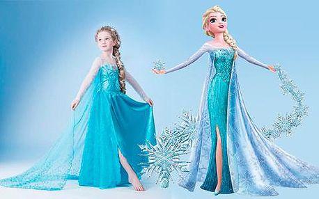 Dětský kostým Frozen princezna Elsa z pohádky Ledové království včetně poštovného