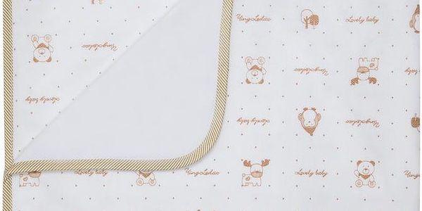 Luxusní dětská deka DORIS bílá velur s bavlnou 80x90 cm Mybesthome