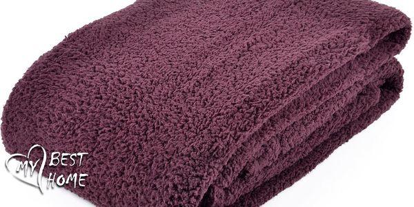 Kvalitní deka z mikrovlákna MILUŠ hnědá/bordo 150x200 cm Essex