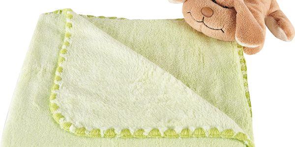 Oblíbená dětská deka do kočárku JENNY zelená 80x90 cm Mybesthome