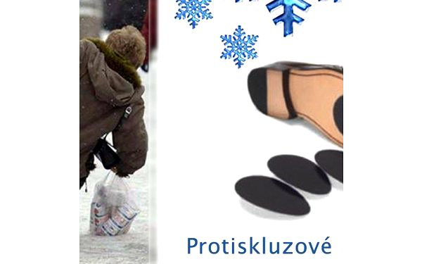Protiskluzové podrážky, vhodné na jakoukoliv obuv. Zabrání uklouznutí a pádu.